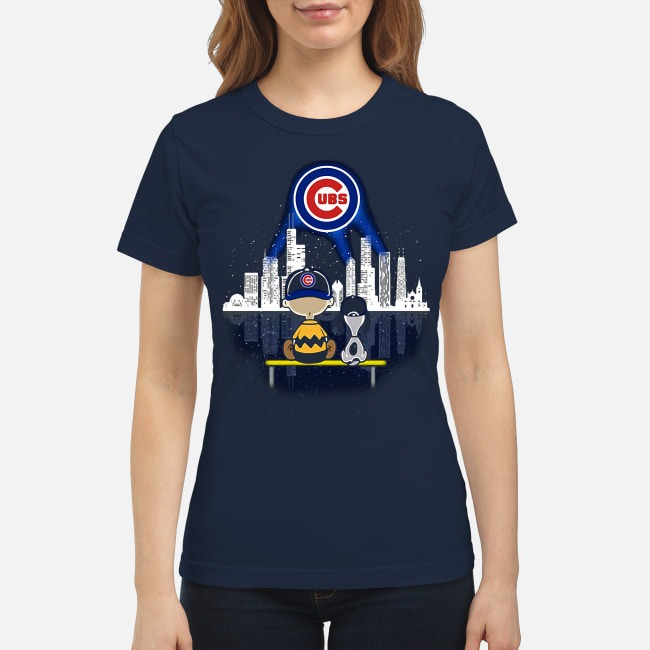 Snoopy and Charlie Brown Chicago Cubs Ladies Tee