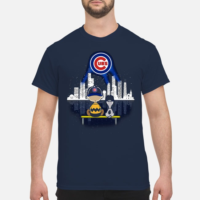 Snoopy and Charlie Brown Chicago Cubs shirt
