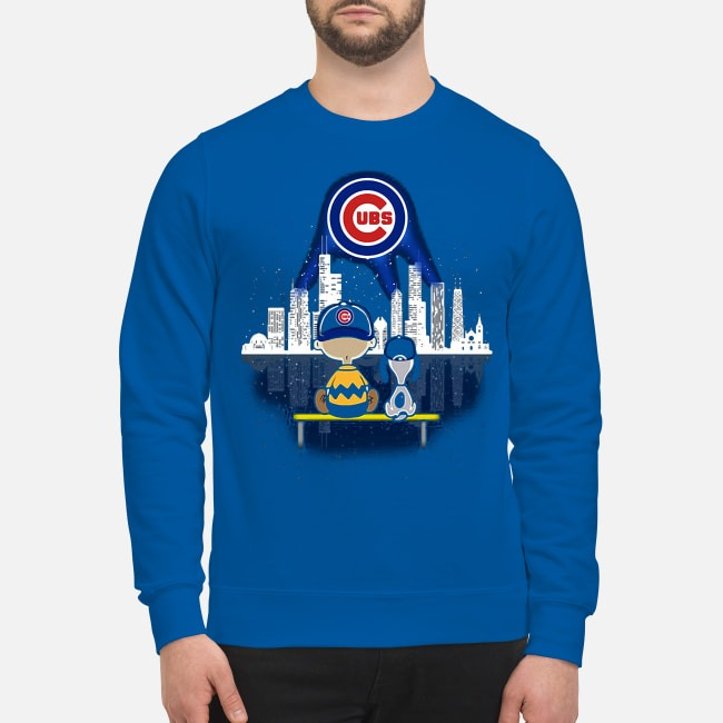 Snoopy and Charlie Brown Chicago Cubs Sweater