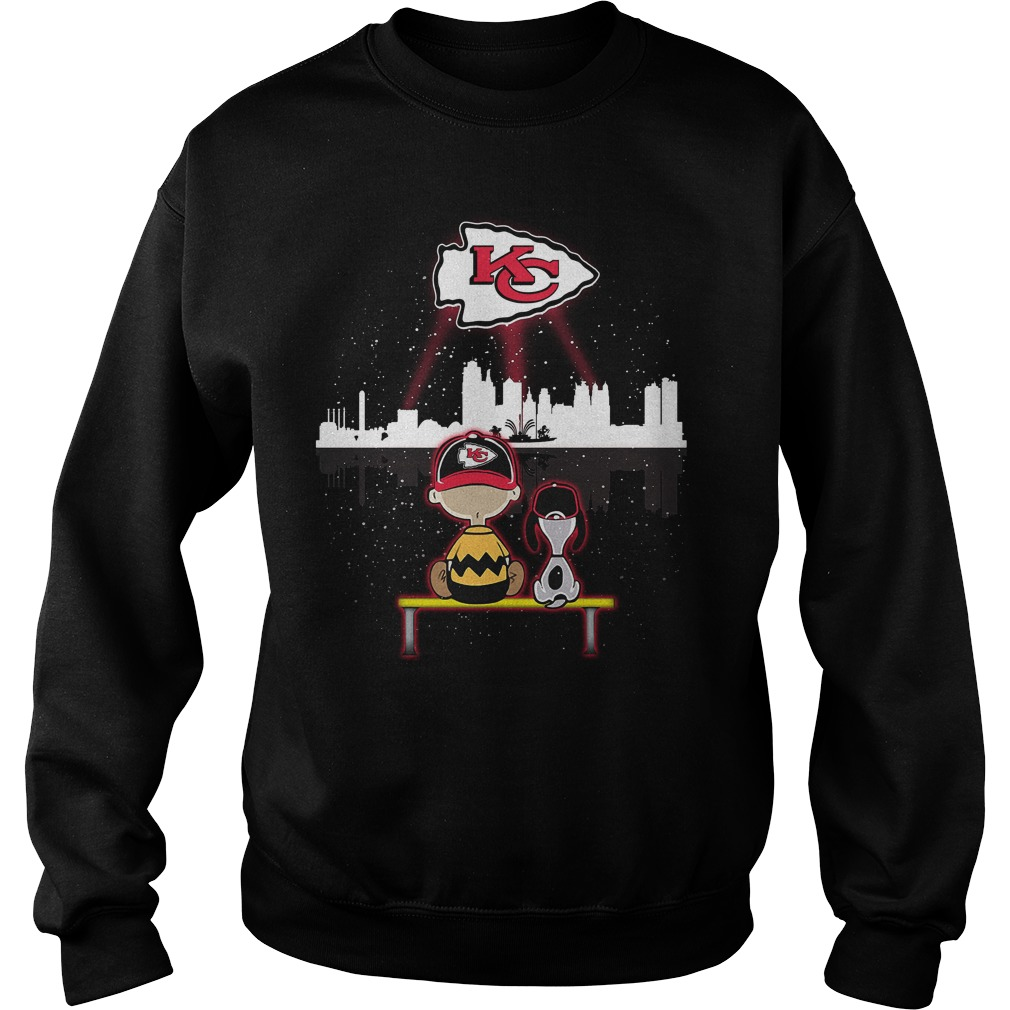 Snoopy and Charlie Brown Kansas City Chief Sweater
