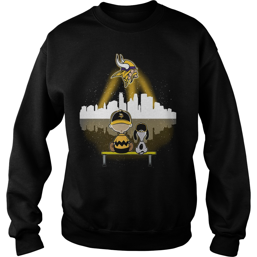 Snoopy and Charlie Brown Minnesota Vikings Sweater