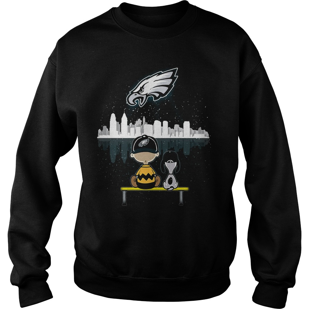 Snoopy and Charlie Brown Philadelphia Eagles Sweater