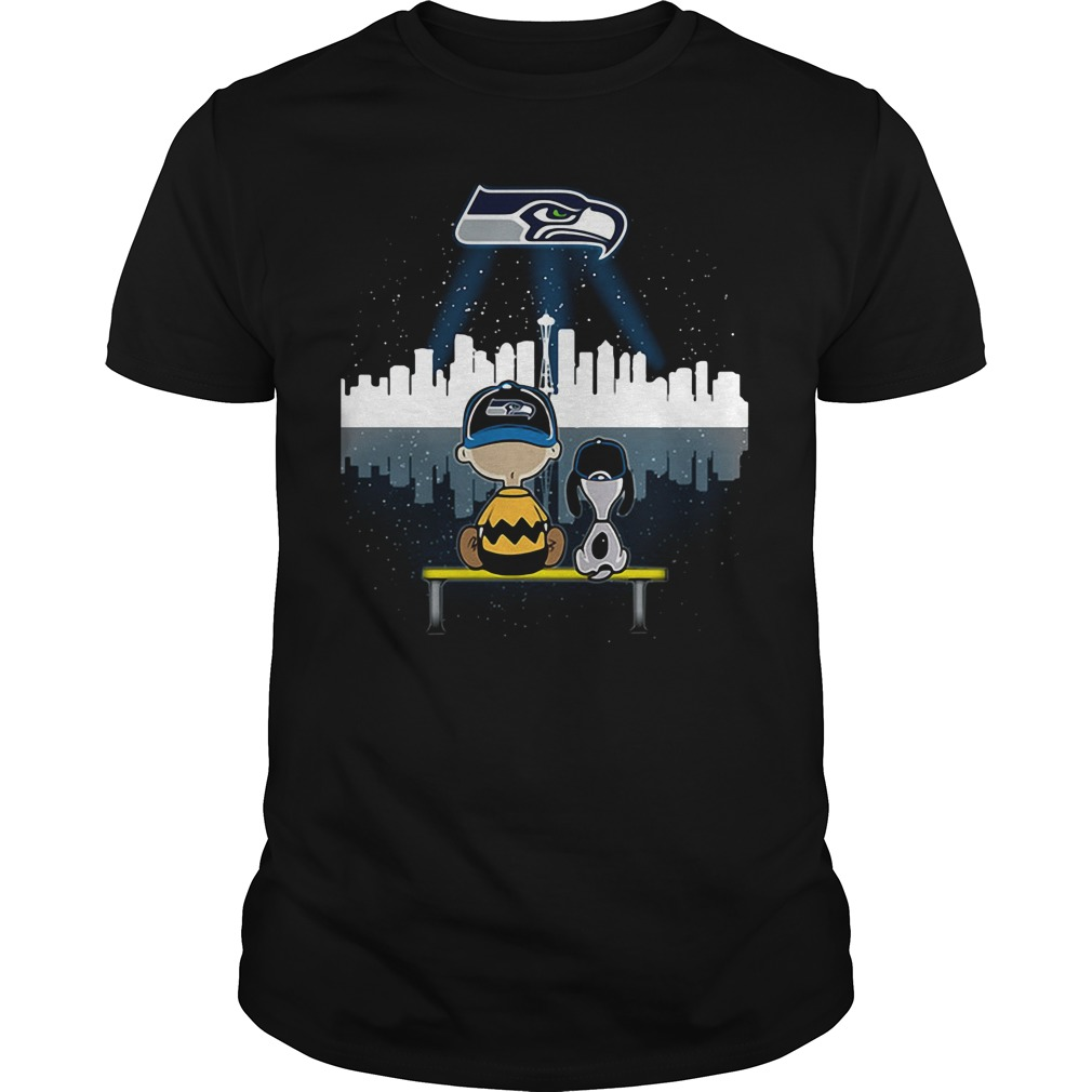 Snoopy and Charlie Brown Seattle Seahawks shirt