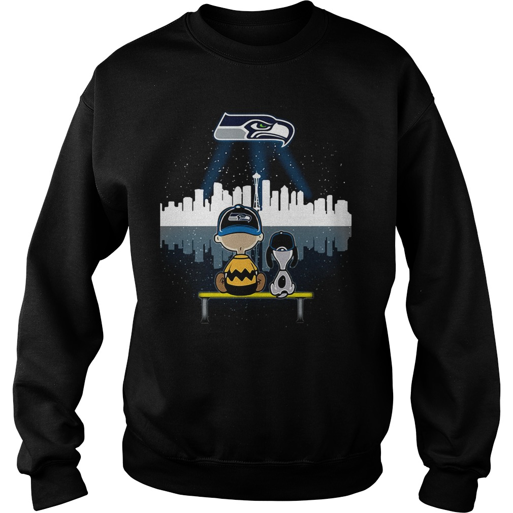 Snoopy and Charlie Brown Seattle Seahawks Sweater