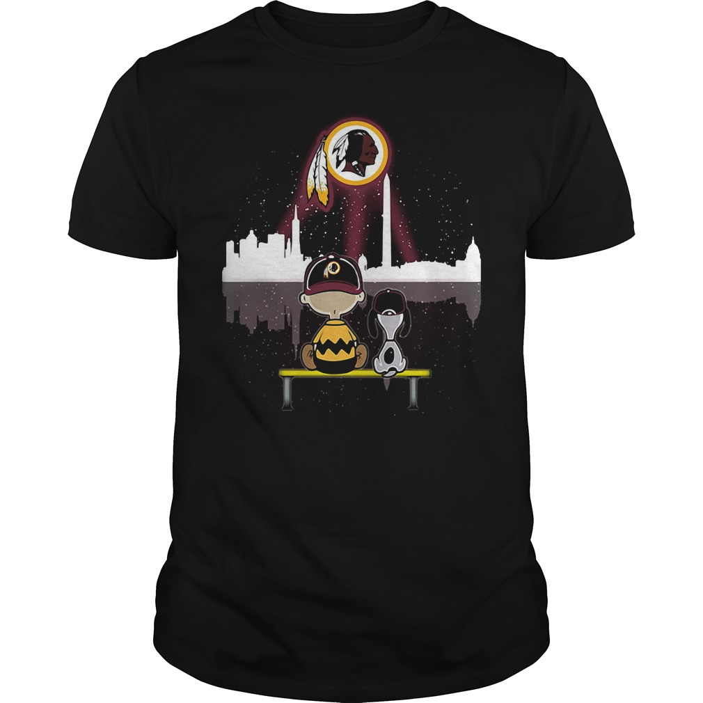 Snoopy and Charlie Brown Washington Redskins shirt
