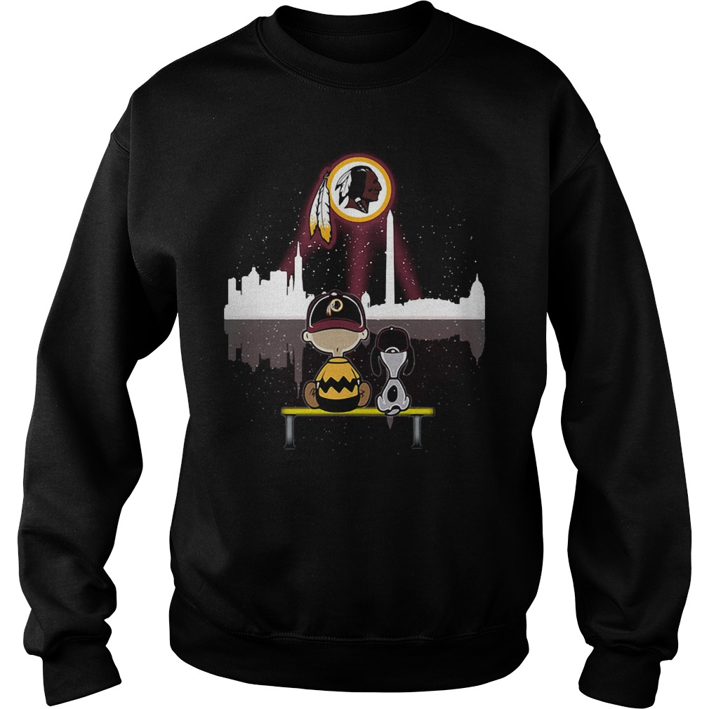 Snoopy and Charlie Brown Washington Redskins Sweater