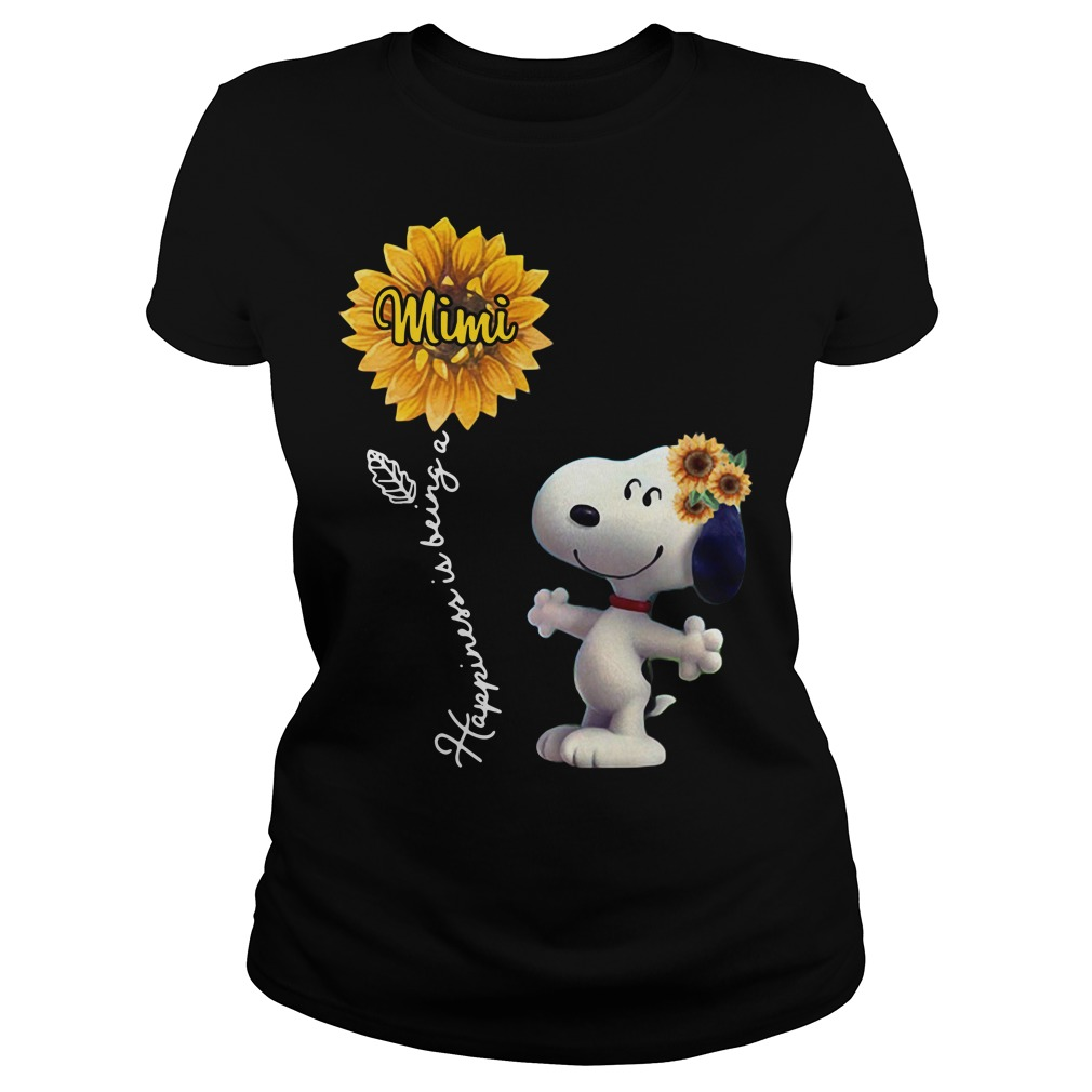 Snoopy sunflower happiness is being a Mimi Ladies tee