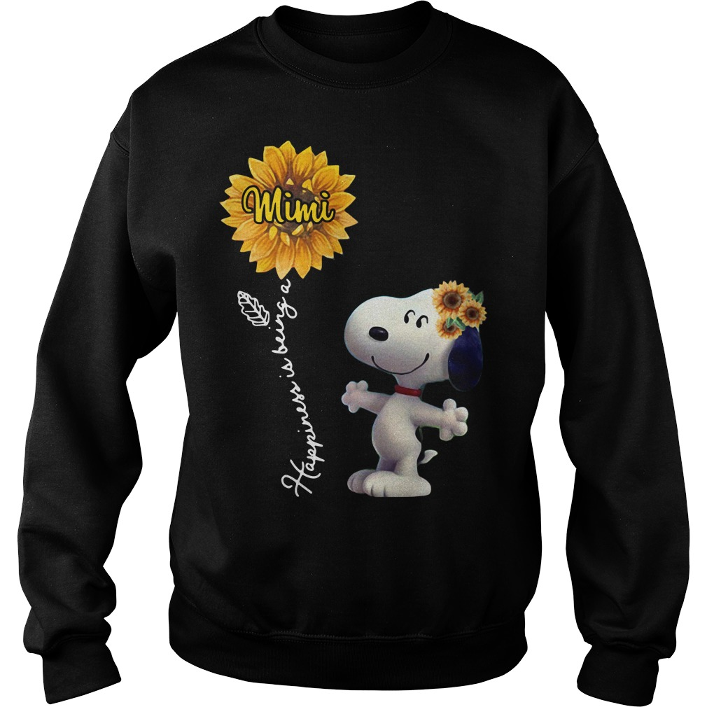 Snoopy sunflower happiness is being a Mimi Sweater