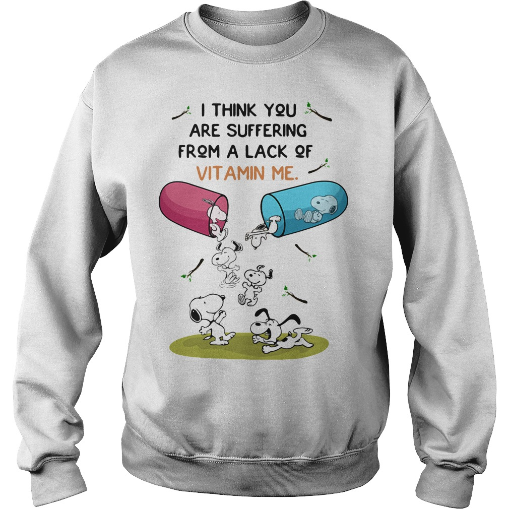 Snoopy I think you are suffering from a lack of vitamin me Sweater