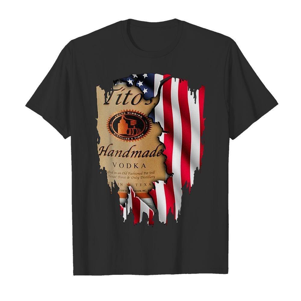 Tito's Handmade Vodka America flag shirt