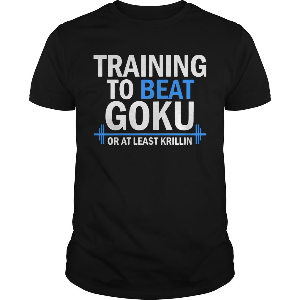 Training to beat goku or at least krillin shirt
