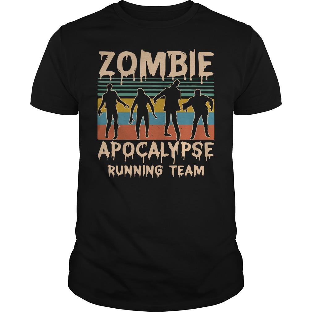Zombie apocalypse running team vintage shirt