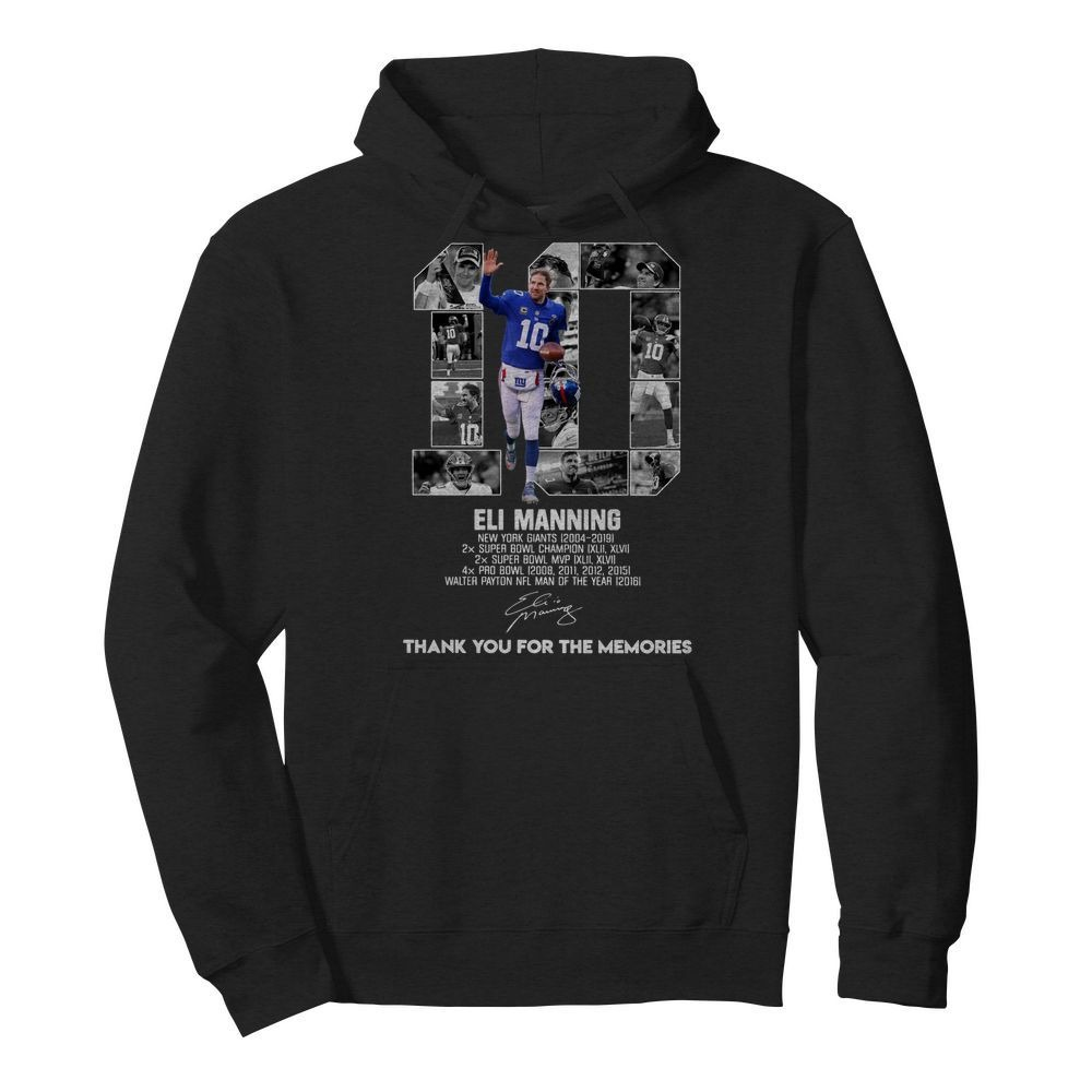 10 Eli Manning thank you for the memories Hoodie