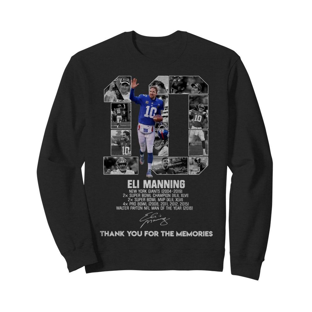 10 Eli Manning thank you for the memories Sweater