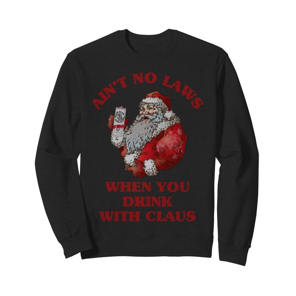 Ain't no laws when you drink with Claus Satan Sweater