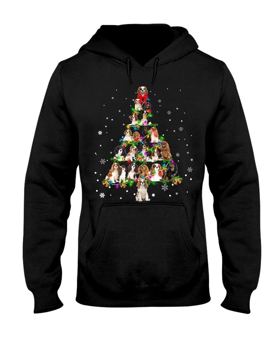Cavalier King Charles Spaniel Christmas tree Hoodie