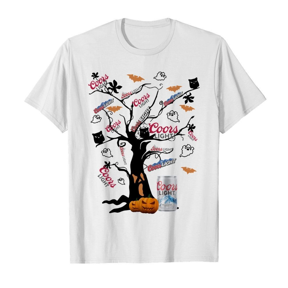 Coors Light Halloween tree shirt