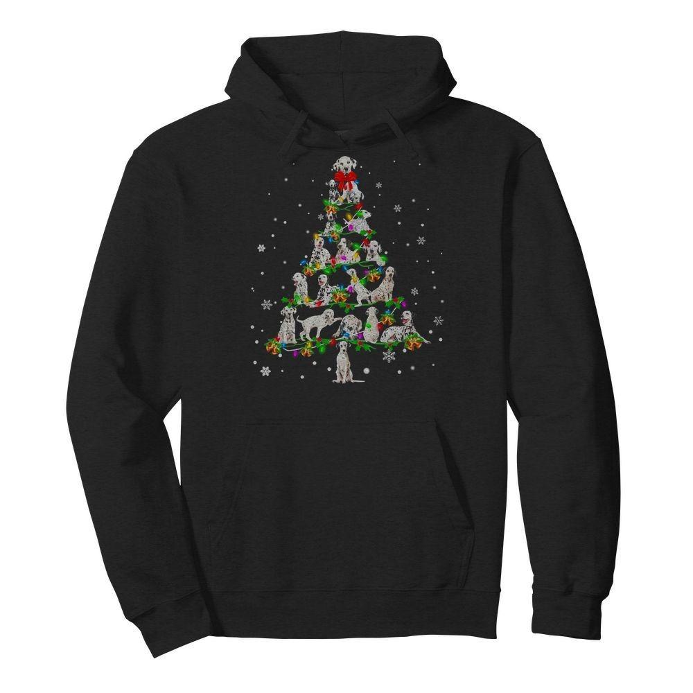 Dalmatian Christmas Tree Hoodie