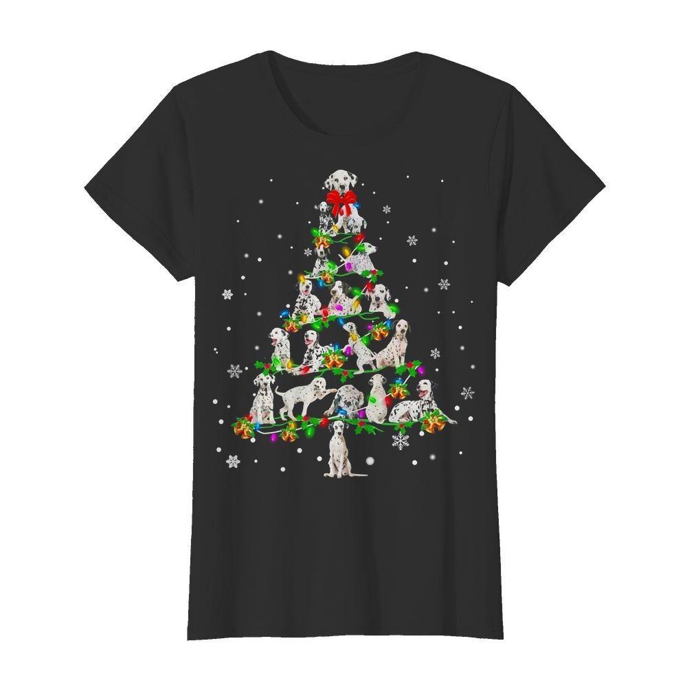 Dalmatian Christmas Tree Ladies Tee