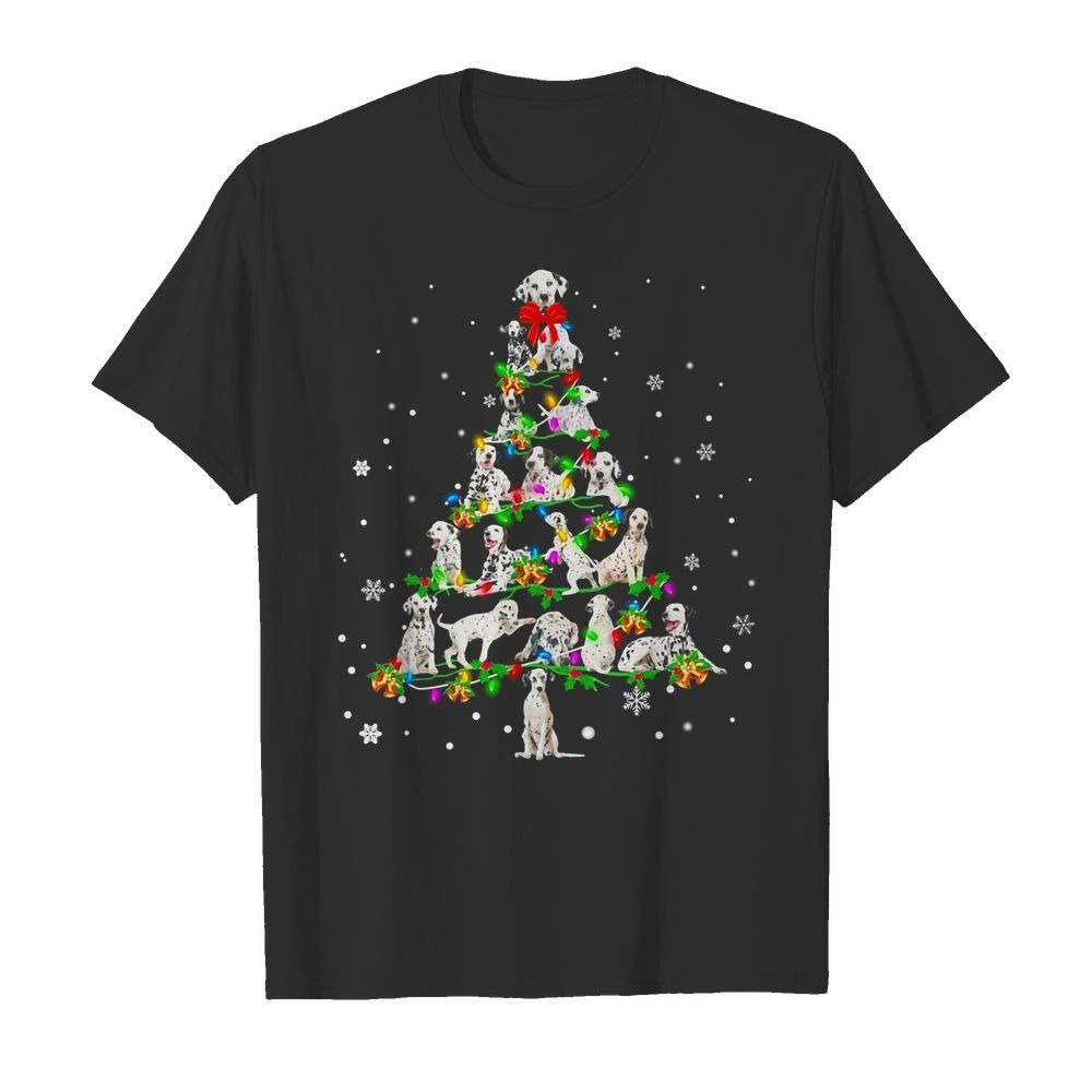 Dalmatian Christmas Tree shirt