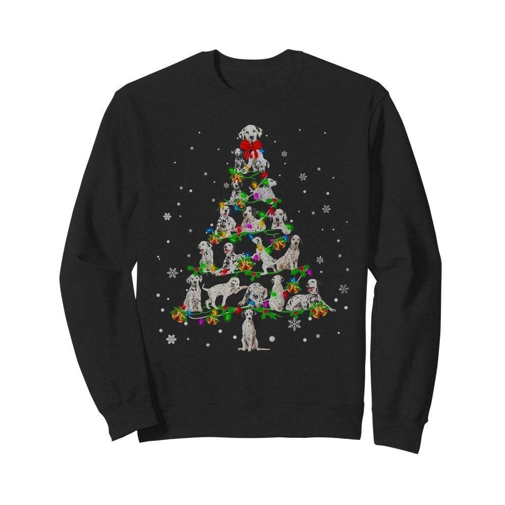 Dalmatian Christmas Tree Sweater