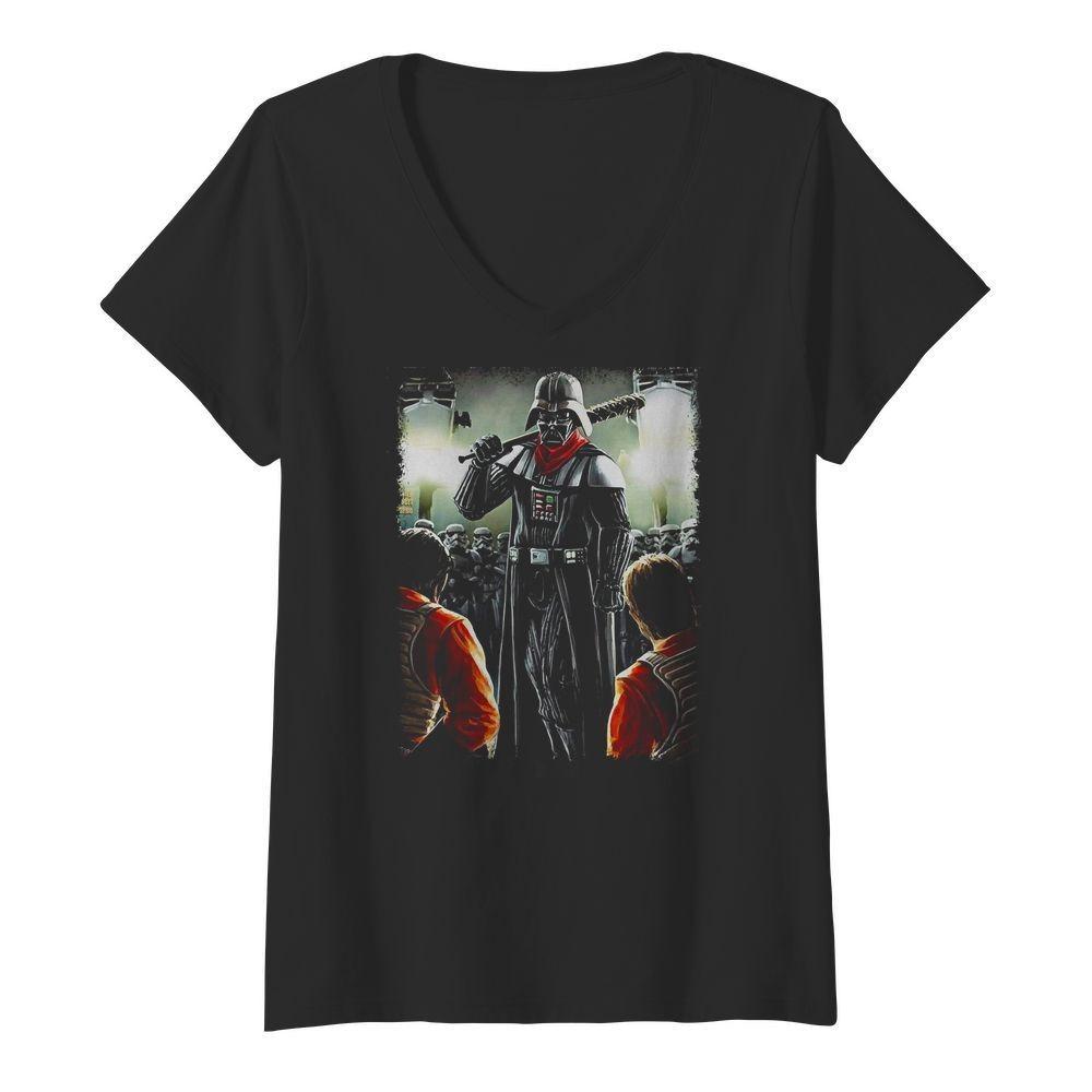 Darth Negan Star Wars V-neck T-shirt