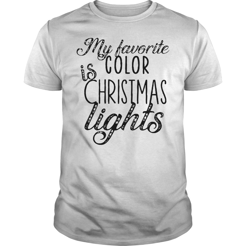 My favorite is color Christmas lights shirt