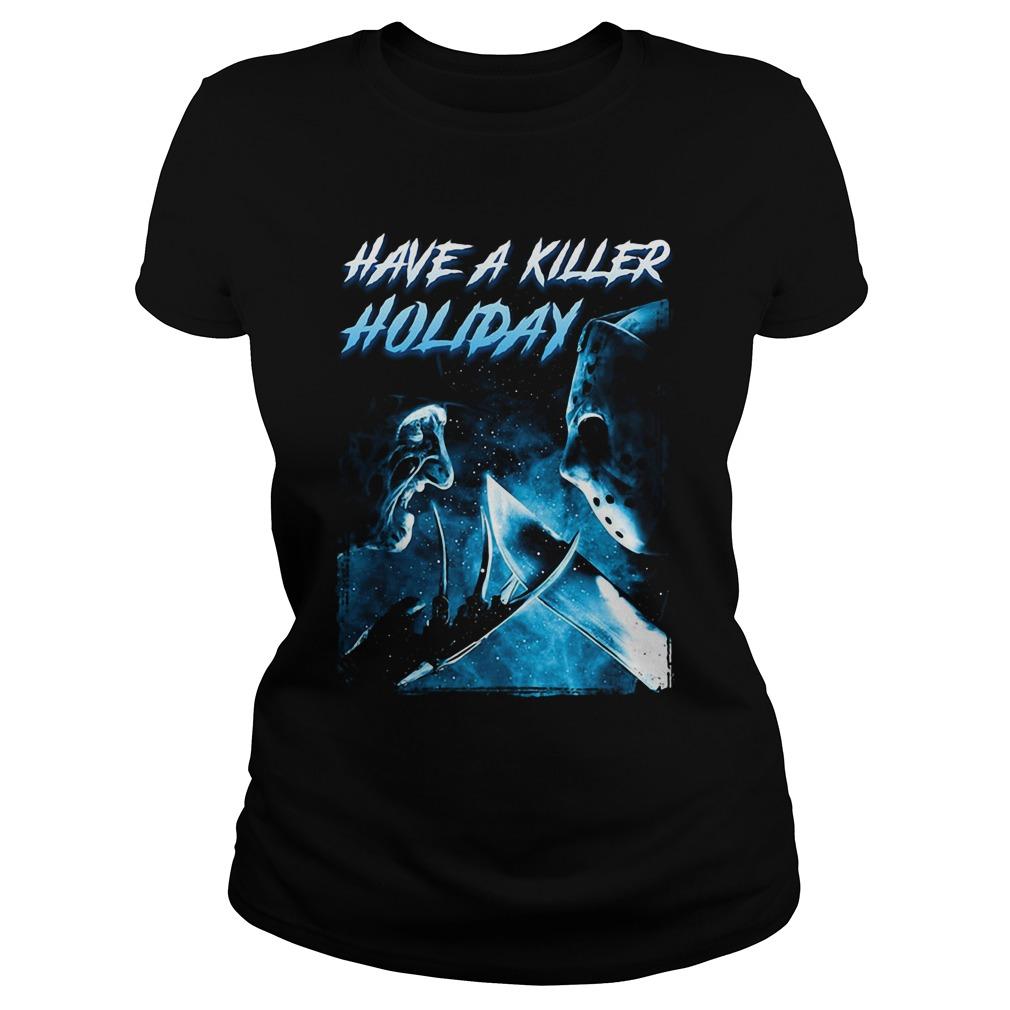 Freddy Krueger have a killer holiday Jason Voorhees Ladies tee