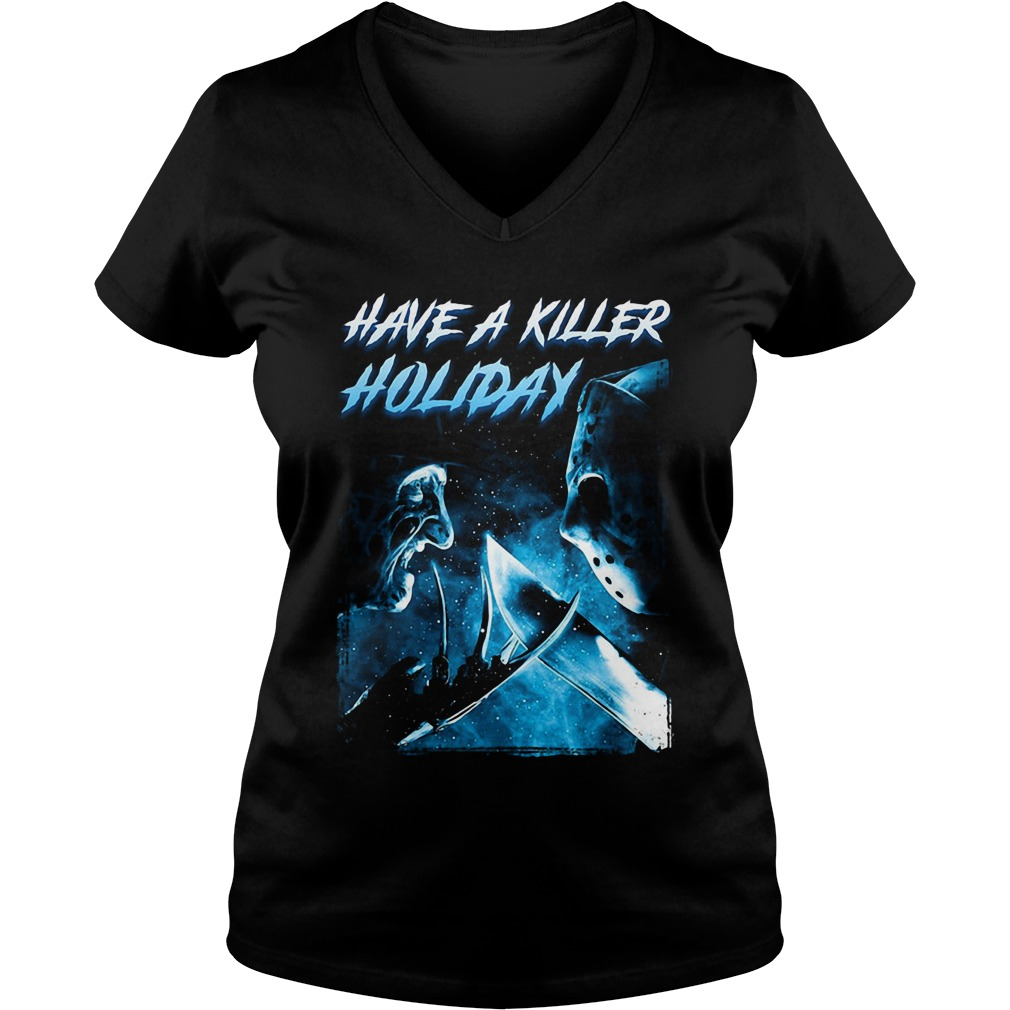 Freddy Krueger have a killer holiday Jason Voorhees V-neck T-shirt