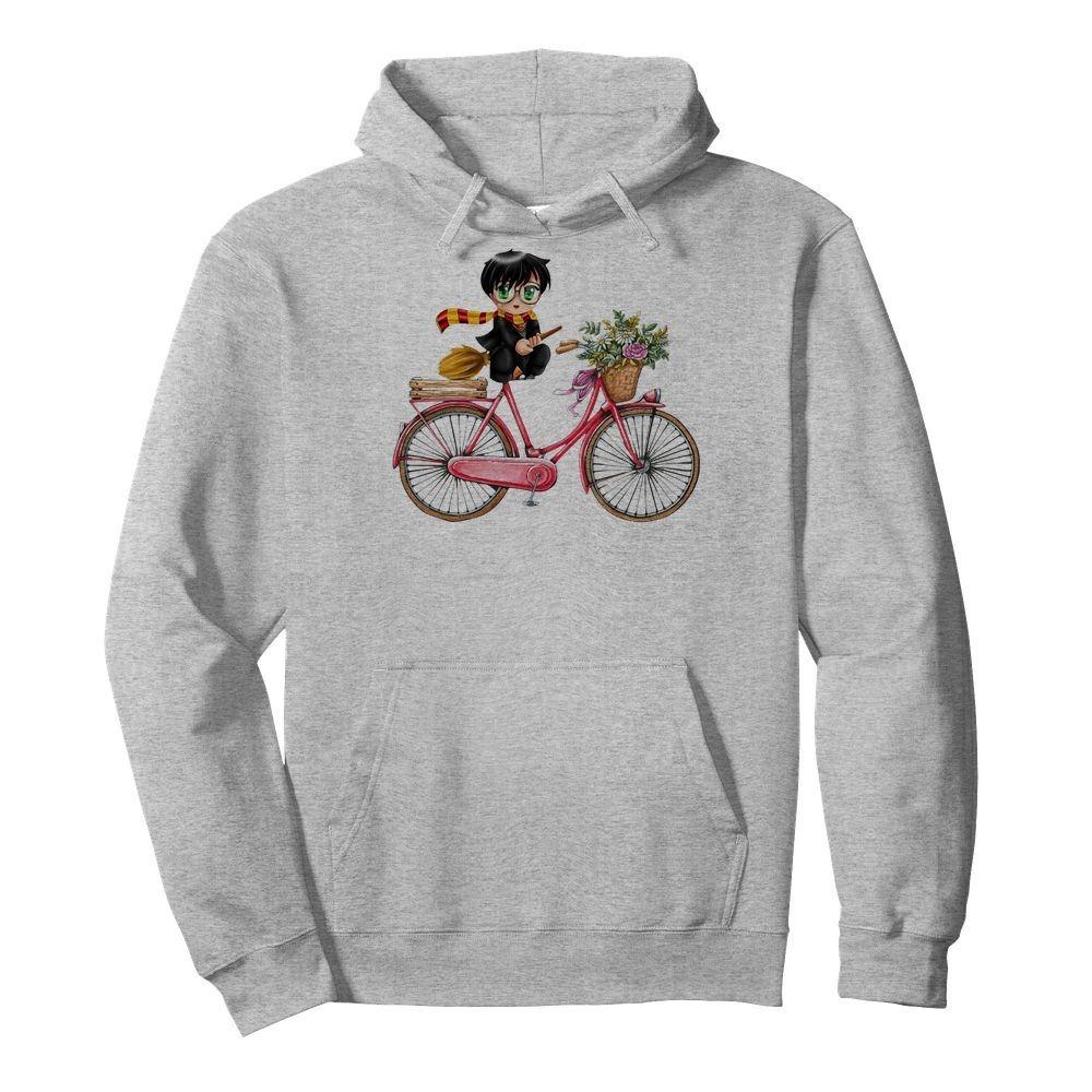 Harry Potter chibi riding bicycle Hoodie