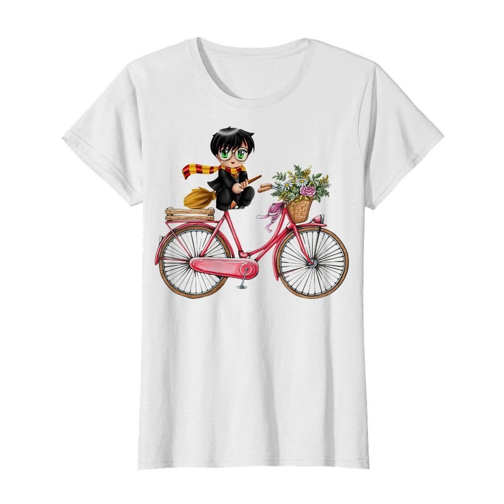Harry Potter chibi riding bicycle Ladies tee