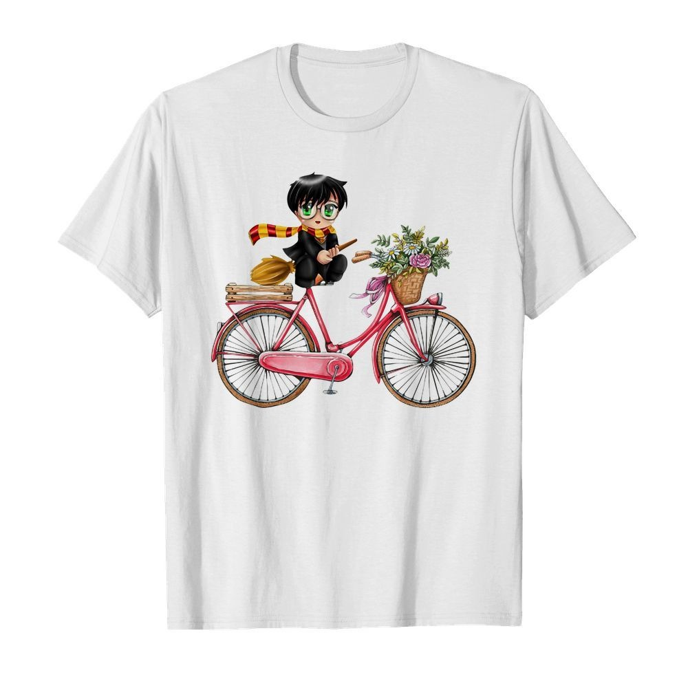 Harry Potter chibi riding bicycle shirt