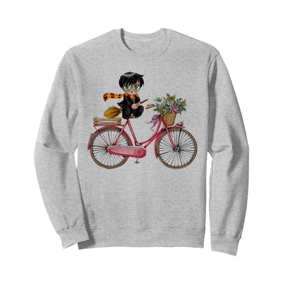 Harry Potter chibi riding bicycle Sweater