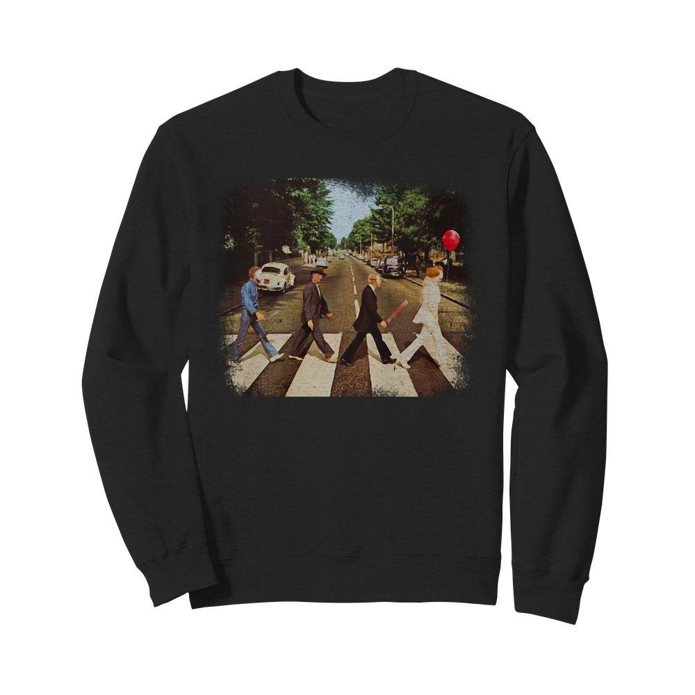Horror movie characters walking Abbey Road Sweater
