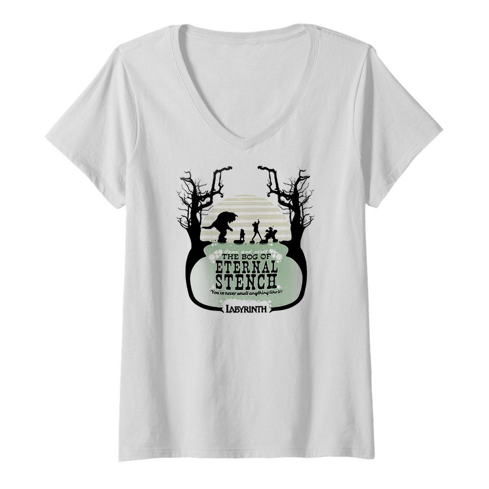 Labyrinth come and visit the bog of Eternal Stench V-neck T-shirt