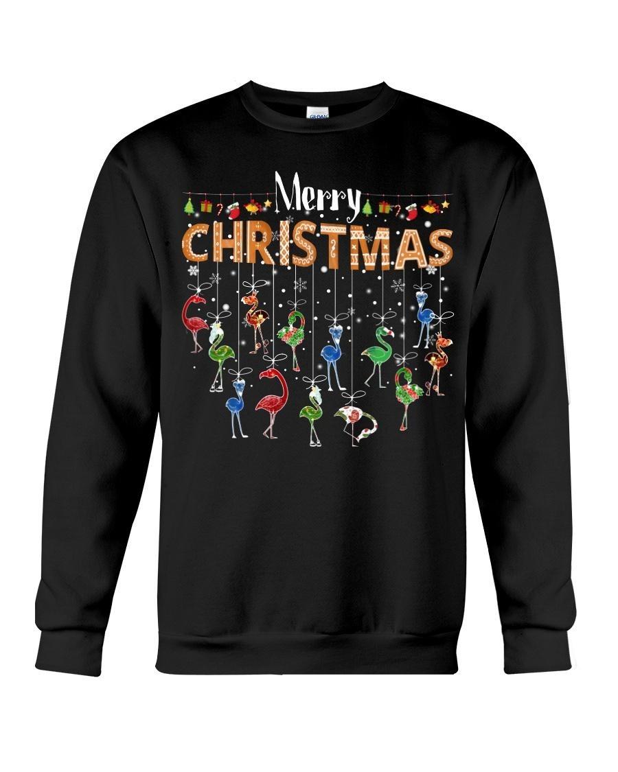 Merry Christmas flamingos Sweater