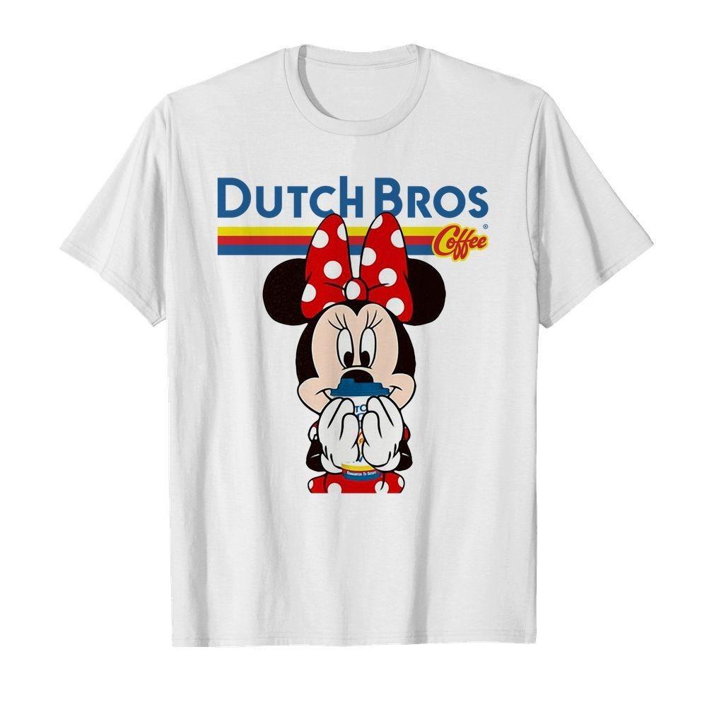Minnie Mouse drinking Dutch Bros Coffee shirt