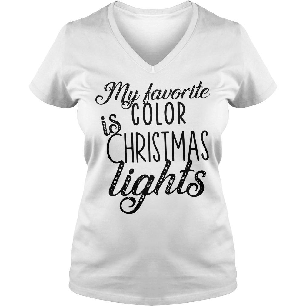 My favorite is color Christmas lights V-neck T-shirt