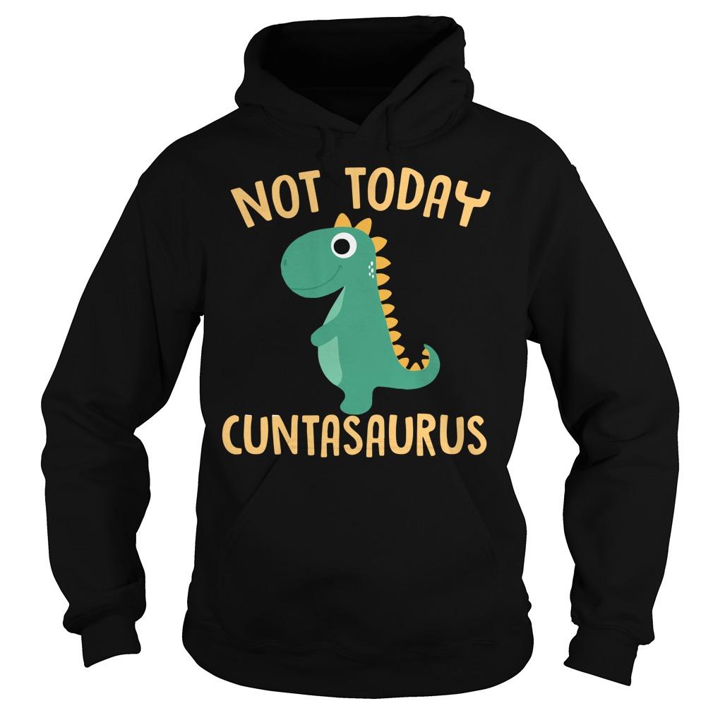 Not today cuntasaurus Christmas Hoodie