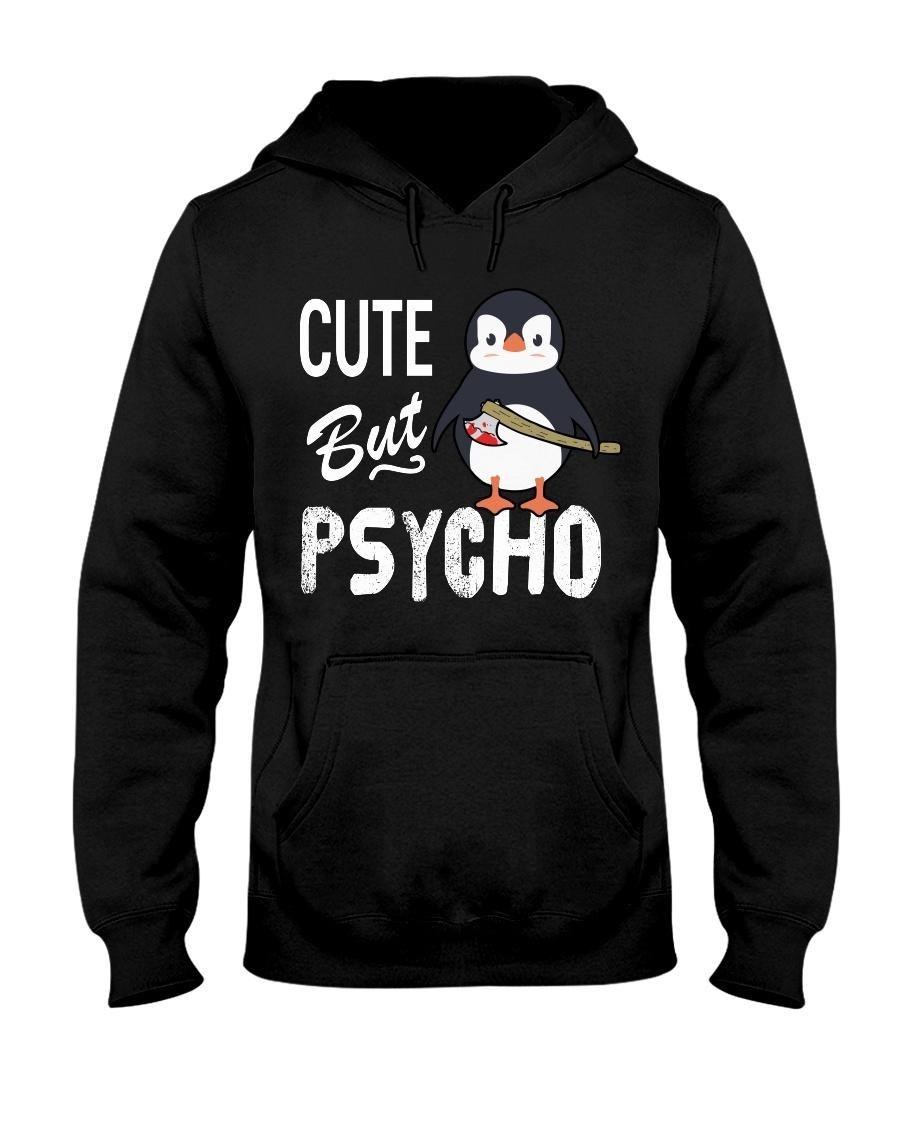 Penguin cute but psycho Hoodie