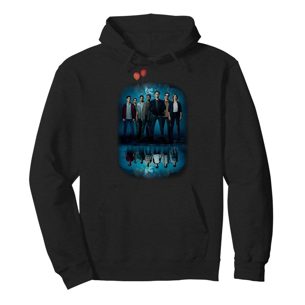 Pennywise IT character water mirror reflection Hoodie