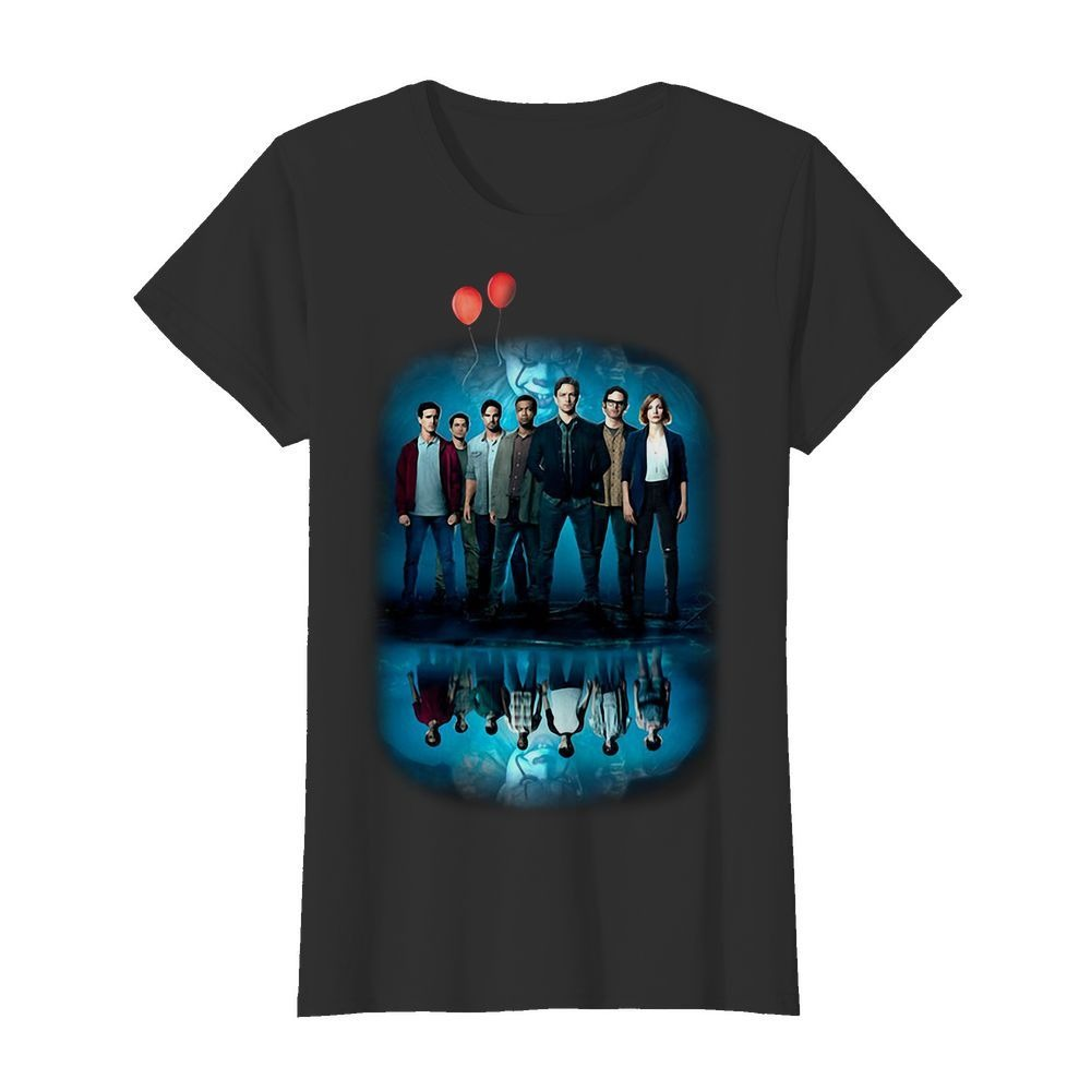 Pennywise IT character water mirror reflection Ladies Tee