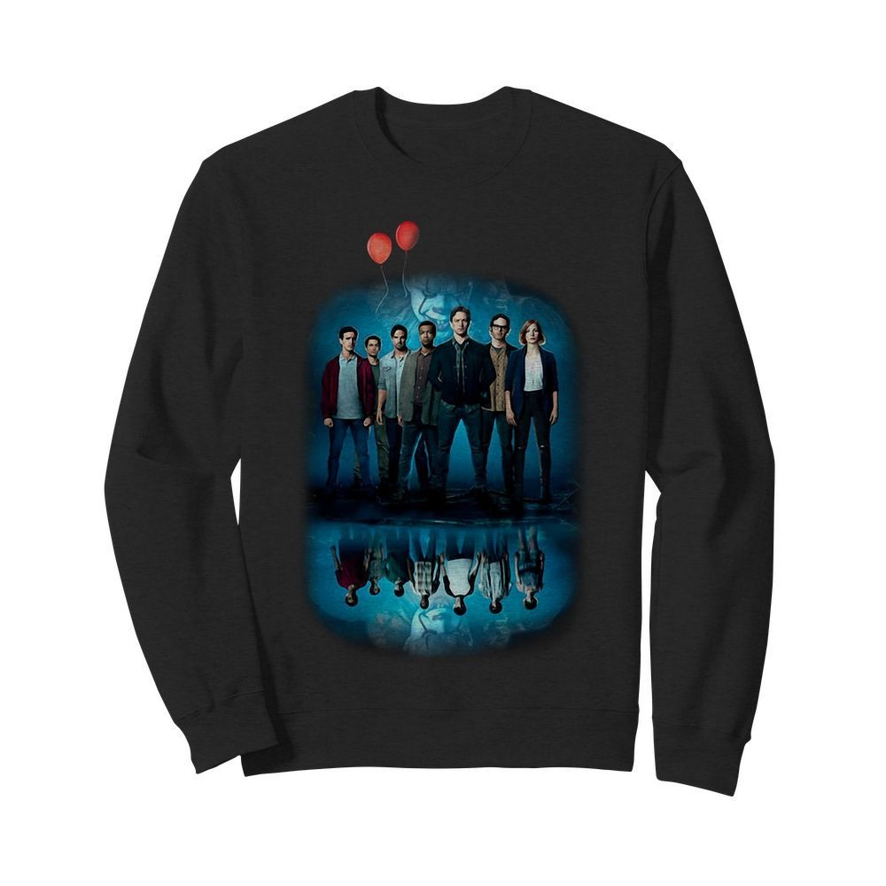 Pennywise IT character water mirror reflection Sweater