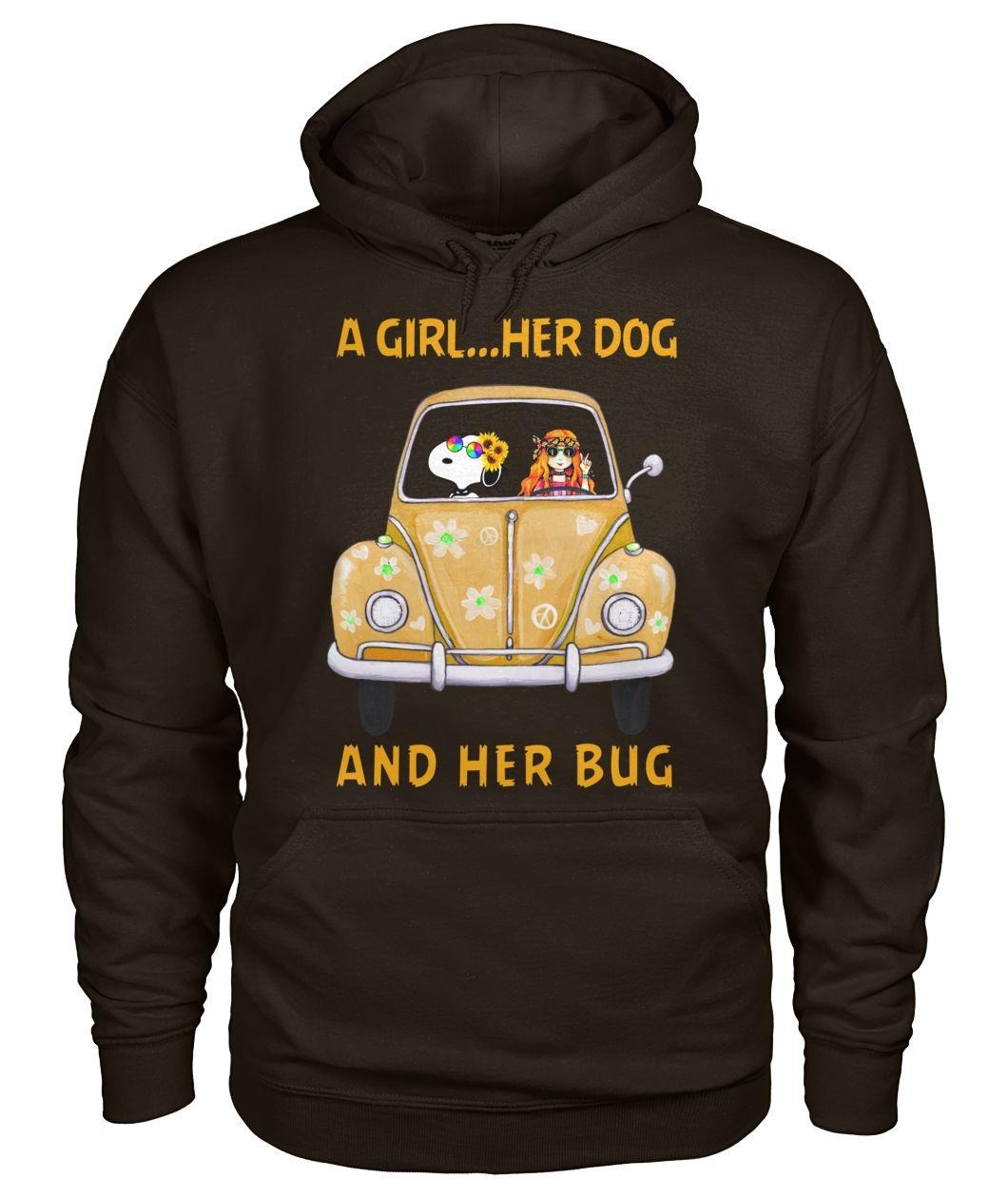 Snoopy a girl her dog and her bug Hoodie