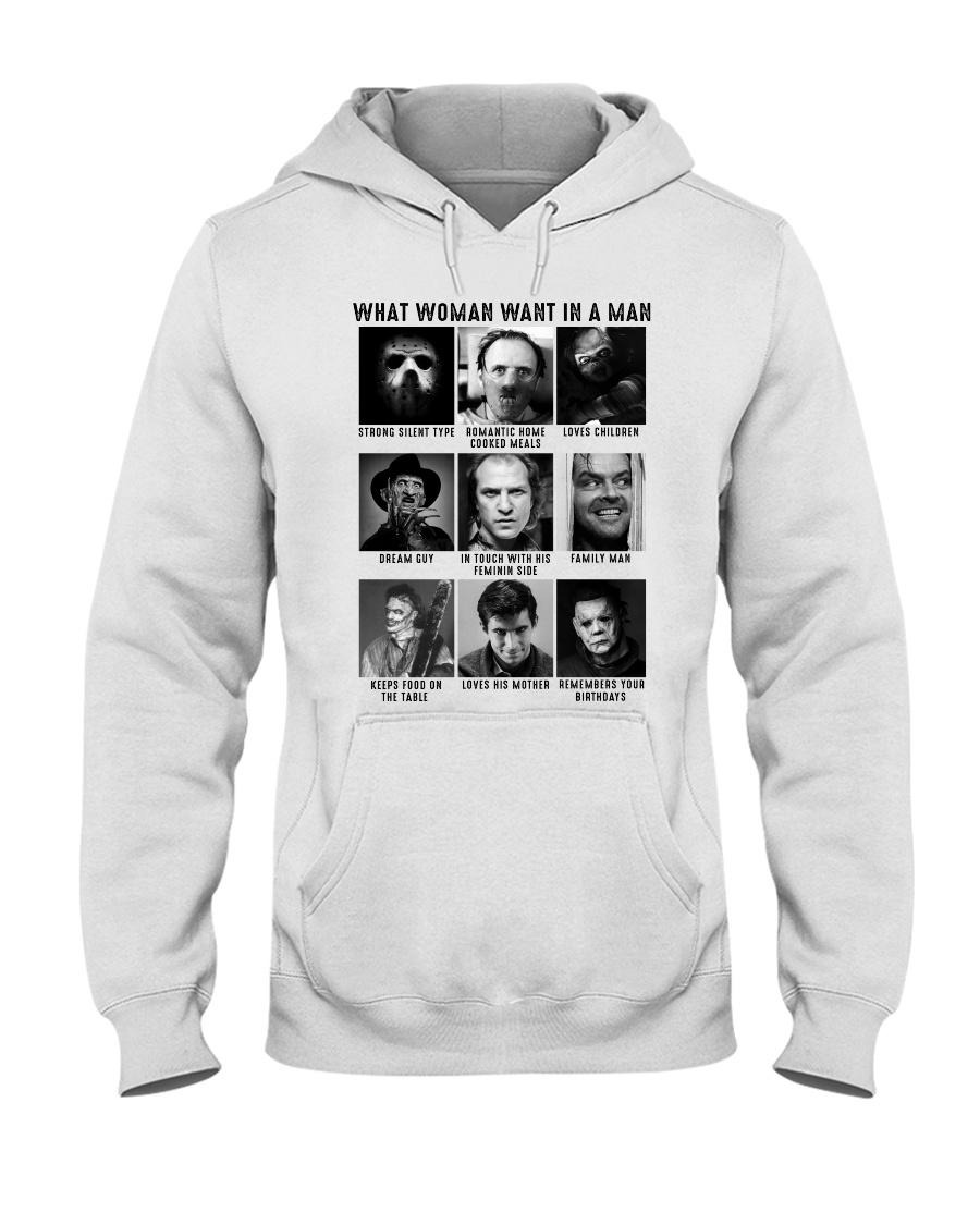 What woman want in man strong silent type horror characters Hoodie