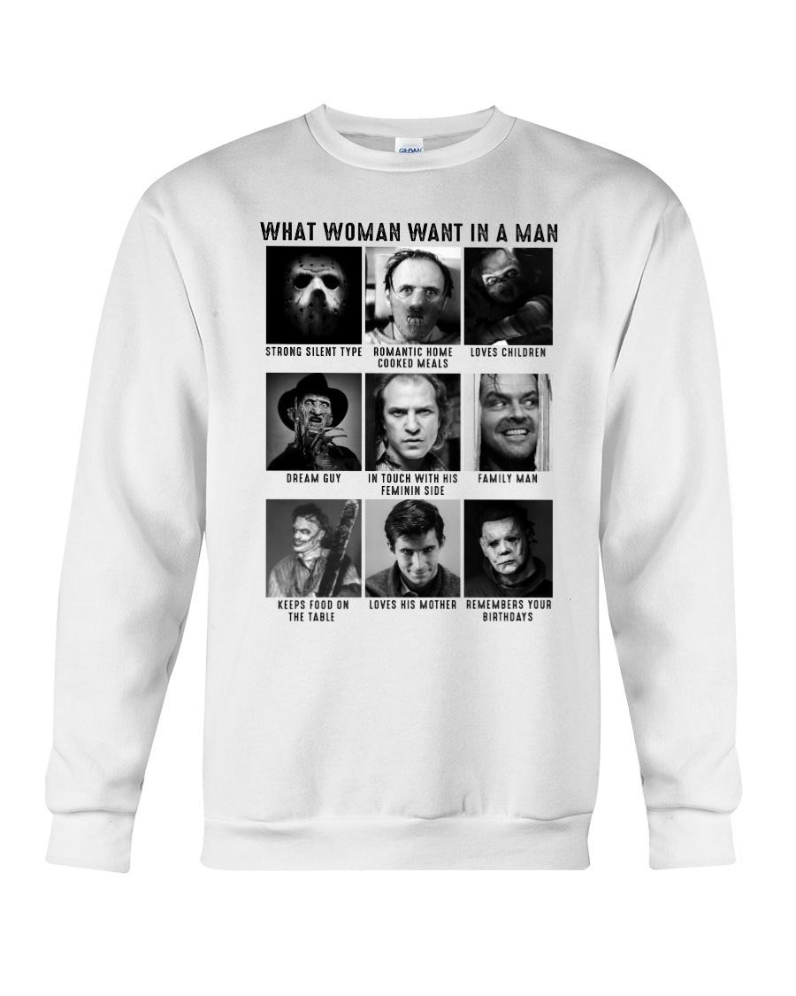 What woman want in man strong silent type horror characters Sweater