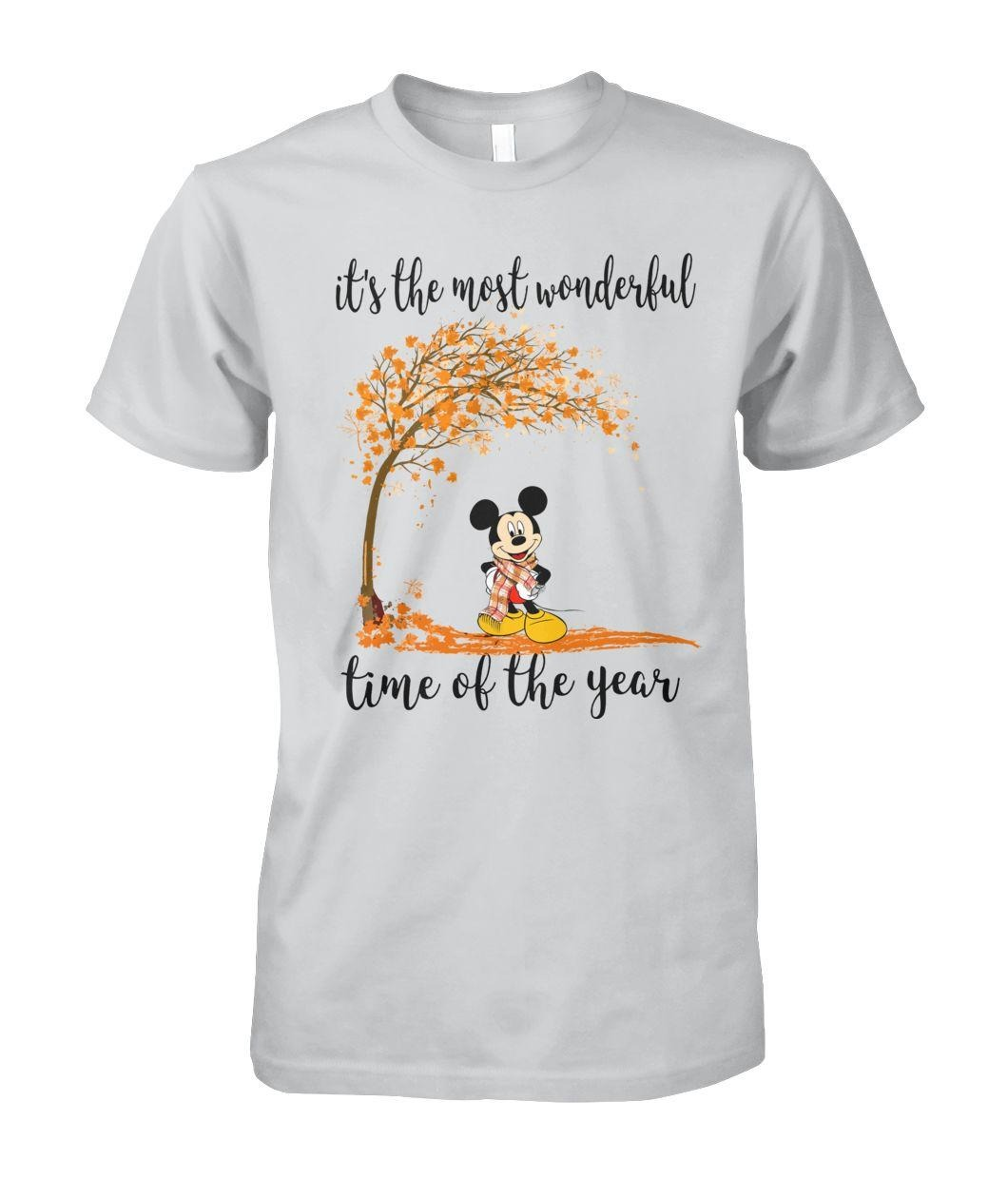 Mickey Mouse It's the most wonderful time of the year autumn shirt