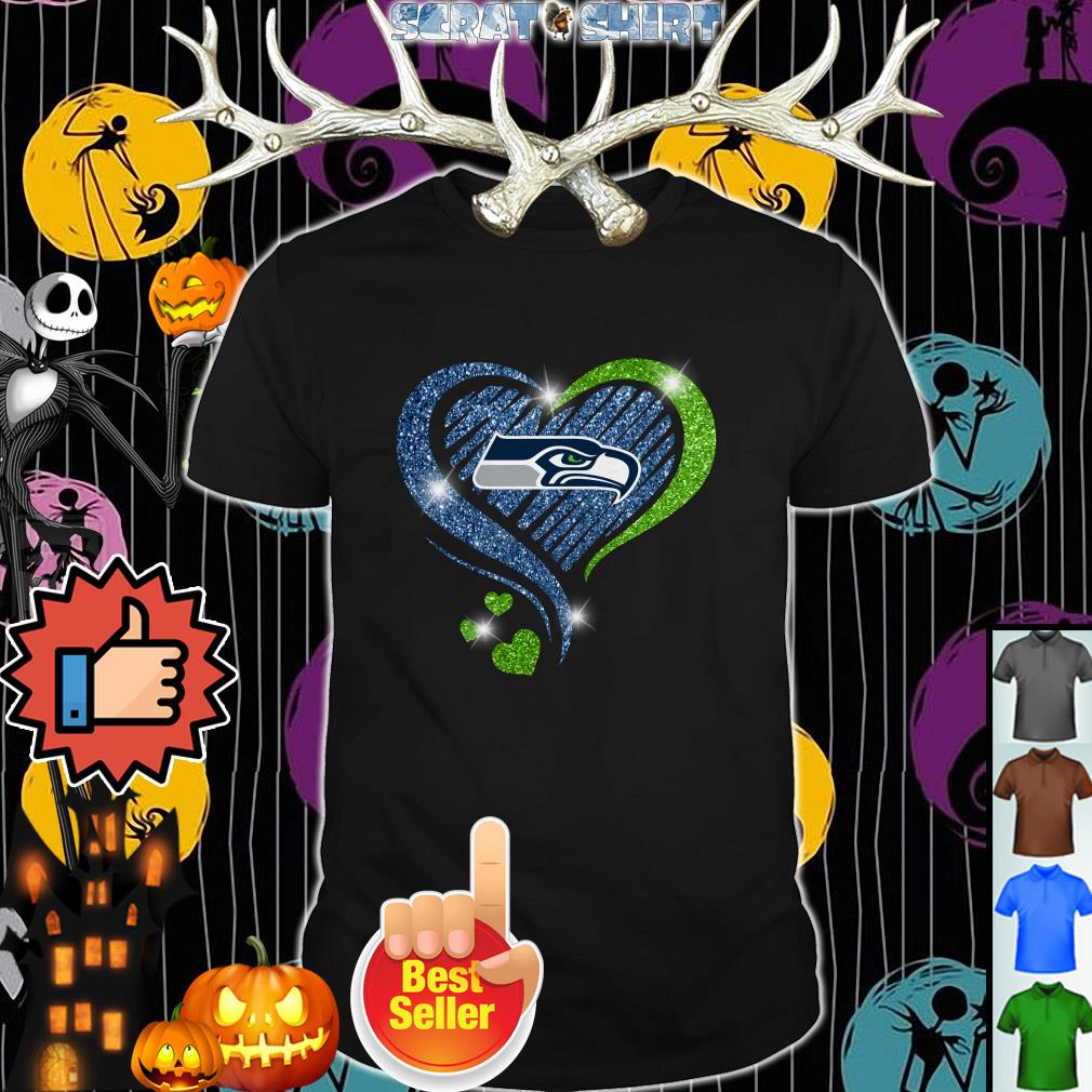 Seattle Seahawks in diamond heart shirt