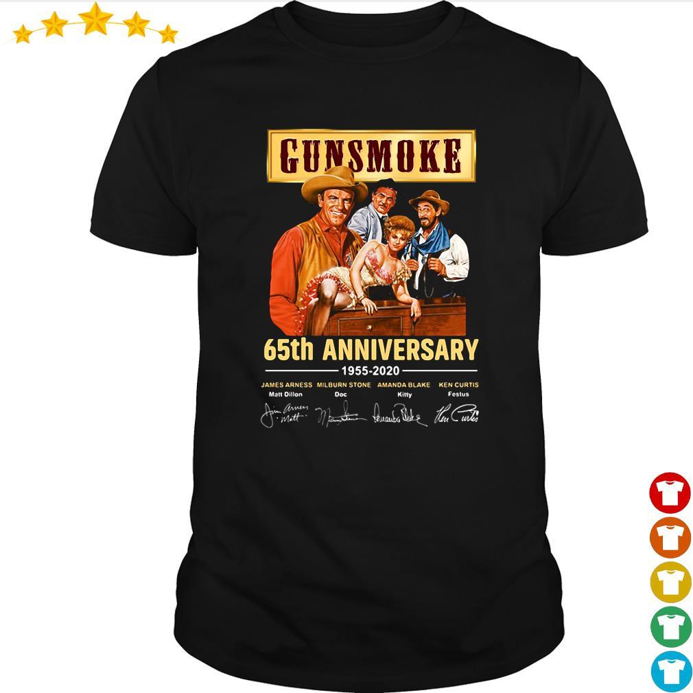 Gunsmoke 65th anniversary 1955 2020 signature shirt From Nicefrogtees