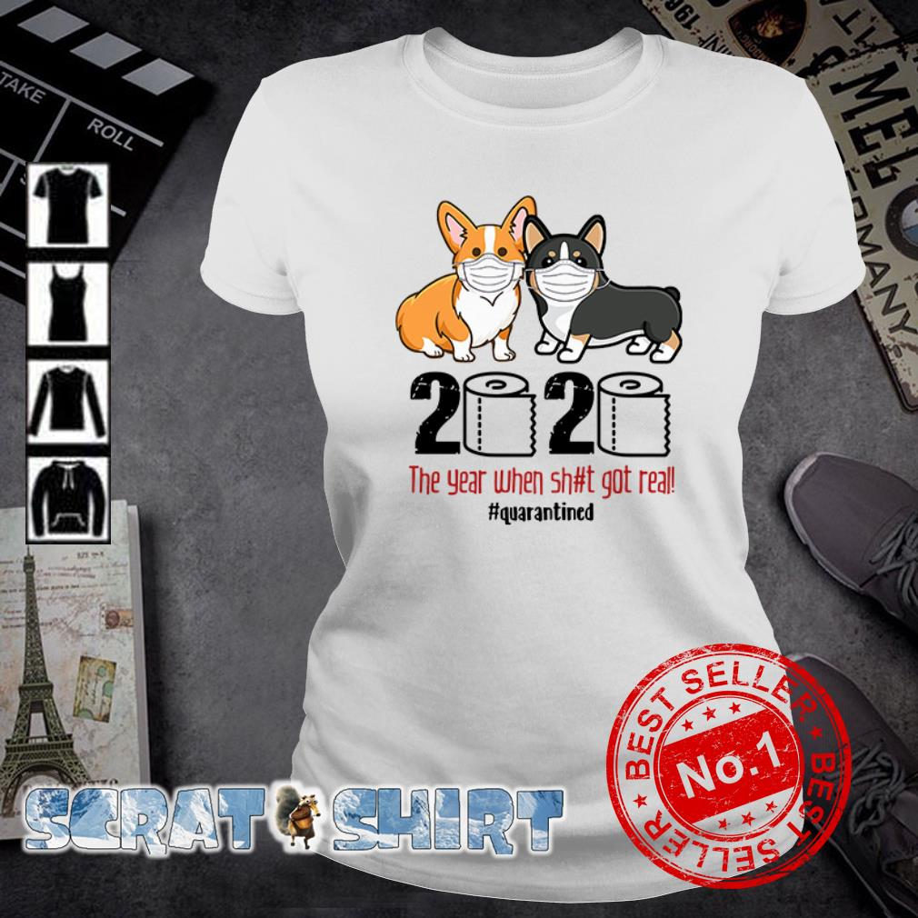 Corgis Quarantined 2020 ladies tee
